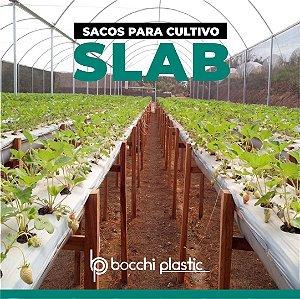 SACO PARA CULTIVO SLAB PRETO/BRANCO 33x400 - 26 KG 200 MICRAS 400 MTS