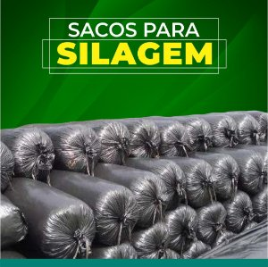 SACO PARA SILAGEM PRETO 51x110 - 10 KG 200 MICRAS 100 UNID