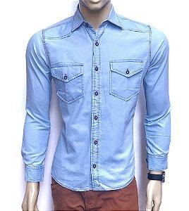 Camisa Social Jeans PN #07 Slim Fit
