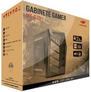 Gabinete Para PC ATX Gamer MT-G70 C3 Tech - Sem Fonte