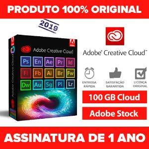 Adobe Creative Cloud 2019 completo 1 ano
