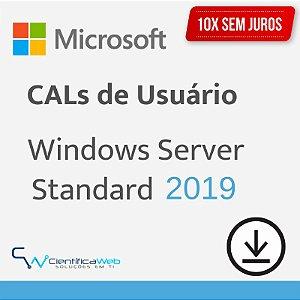 CALs de Usuário Windows Server 2019