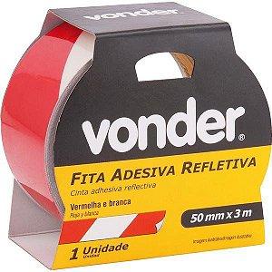 Fita Refletiva 50mm X 3m Vermelha/Branca Vonder