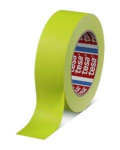 Fita Tecido Gaffer Tape Tesa 48mm X 25m Amarela Fluorescente
