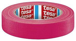 Fita Tecido Gaffer Tape Tesa 24mm X 25m Rosa Fluorescente