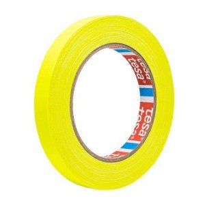 Fita Tecido Gaffer Tape Tesa 12mm X 25m Amarela Fluorescente