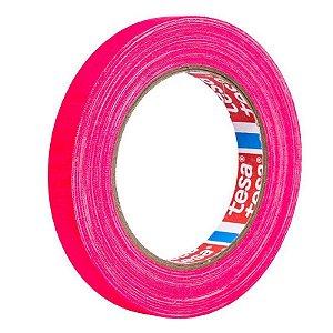 Fita Tecido Gaffer Tape Tesa 12mm X 25m Rosa Fluorescente