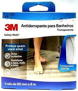 Fita Antiderrapante 3m Transparente Banheiro Áreas Úmidas 50mmx5m