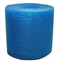 Plástico Bolha Reforçado 40cm x 100m Azul 70 Micras