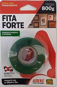 Fita Forte Transparente Dupla Face 19mm x 2m Adere