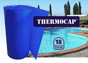 Polibolha Manta Termica Thermocap 1,38m LARG x 10m Azul, PARA COBERTURA DE PISCINAS, 300 MICRAS