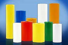 Lona Plástica Color AMARELA Média 4,00m de largura.