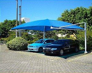 Sombreador Confeccionado com bainha e ponteiras reforçadas e quatro ilhoses em tela SolPack 190gr e 85% de sombreamento, usada em estacionamentos, quadra de esportes, áreas de lazer, jardins, piscinas, etc.