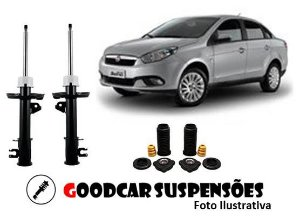 AMORTECEDORES DIANT. + KIT COMPLETO - FIAT GRAND SIENA - 2012 A 2018
