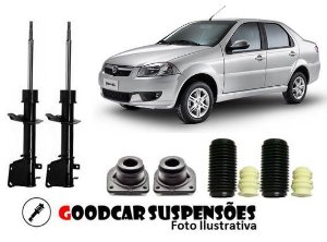 AMORTECEDORES DIANT. + KIT COMPLETO - FIAT SIENA - 2001 A 2015