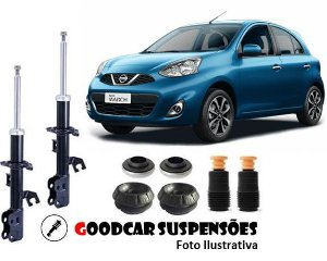 AMORTECEDORES DIANT. + KIT COMPLETO - NISSAN MARCH - 2011 A 2020