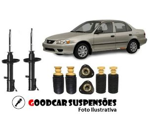 AMORTECEDORES DIANT. + KIT COMPLETO - TOYOTA COROLLA - 1992 A 2002