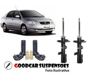 AMORTECEDORES DIANT. + KIT COMPLETO - TOYOTA COROLLA - 2002 A 2008