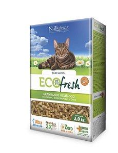 NuTrópica EcoFresh Granulado Higiênico para Gatos, Aves e Pequenos Mamíferos 2Kg