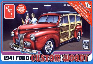 Ford Custom Wood 1941 1/25 AMT