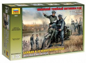 German R-12 Heavy Motorcycle 1/35 Zvezda