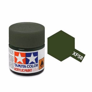 Tinta Olive Green XF-58 Tamiya 10ml