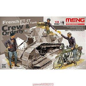 Tripulação Francesa de Tanque Renault FT-17 Primeira Guerra Mundial 1/35 Meng