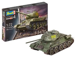 Tanque Russo da Segunda Guerra Mundial T-34/85 1/72 Revell