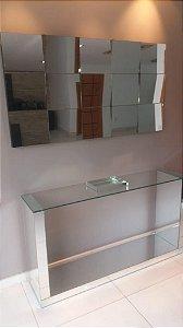 Conjunto completo Luxo! - Aparador C/ vidro em cima + Painel 3D