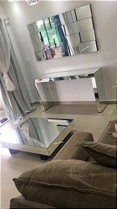 Aparador espelhado + Painel pizzini + Mesa de centro veneza - Conjunto completo!