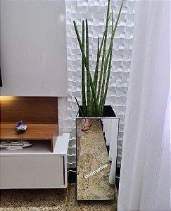 Vaso cachepot espelhado alto - promoção