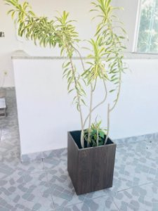 Vaso cachepot amadeirado - F84