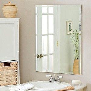 Espelho pra banheiro borda Bisotê - Luxo