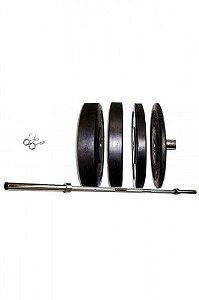 Kit de Treino Funcional Slade Fitness: Anilhas + Barra Olímpica - 1,80 metros