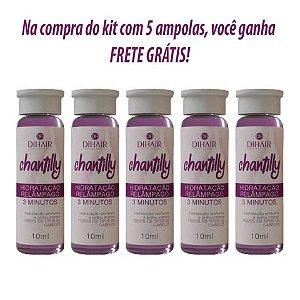 AMPOLA CHANTILLY - KIT COM 5 UNIDADES - FRETE GRÁTIS