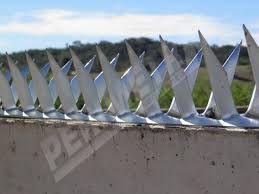 Lança Para Muro Galvanizada Mandíbula Proteção Cerca Espeto 1 metro