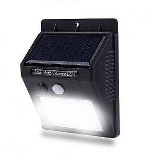 Refletor de Led Carregador Solar com sensor de Presença - Arandela
