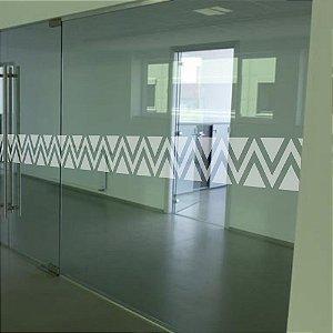 Adesivo Sinalizador de Porta - Triângulos