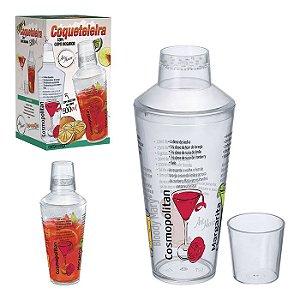Coqueteleira c/ copo Dosador 500ml