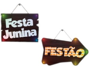 PLACA MDF C/ LED JUNINA