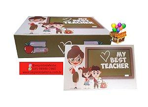 CAIXINHA DIVERTIDA P/ 6 DOCES - TEACHER