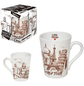 CANECA CERAMICA 340ML - I LOVE TRAVEL