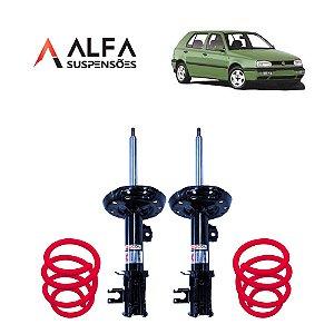 KIT DIANTEIRO DE SUSPENSÃO FIXA ESPORTIVA VW GOLF MK3 (1991/1999)