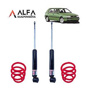 KIT TRASEIRO DE SUSPENSÃO FIXA ESPORTIVA VW GOLF MK3 (1991/1999)