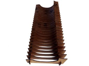 Organizador de Pires/Prato de sobremesa Vertical (28 Pratos)