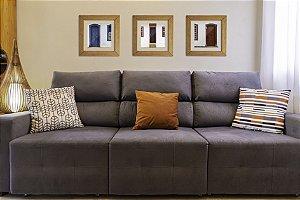 Conjunto 3 Quadros Decorativos (38x38cm) - Produto Artesanal