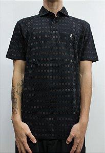 Camisa Polo Volcom Stone Cofe