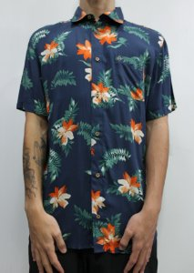 Camisa South To South Orange Flower