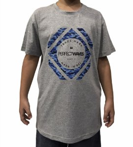 Camiseta Juvenil Perfect Waves Blue Camo