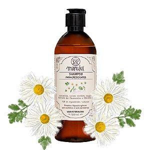 Shampoo Camomila e Extrato Calêndula Hipoalergênico, sem parabenos e sem sulfatos 500 ml